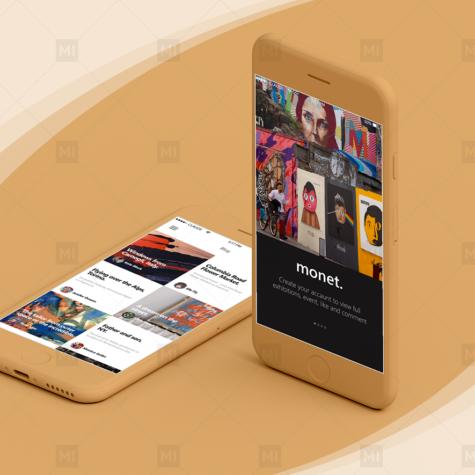 Monet Mobile App Design